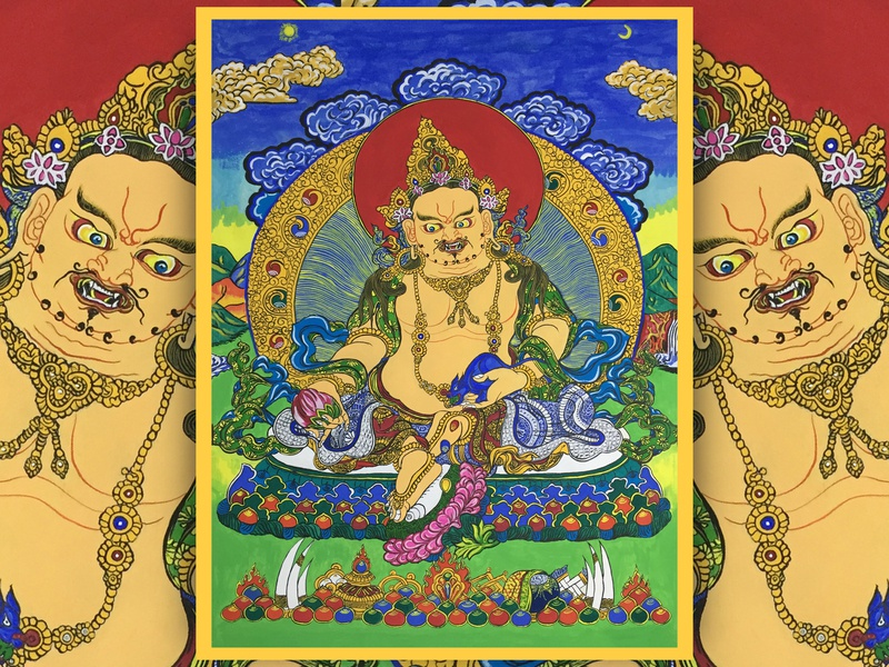 Thangka Decorative Painting interface ue ux ui design handwork card continue to work hard print design adornment picture tangka branding print typography art colors illustration china