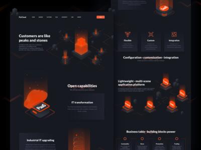 FlyCloud Web Design typography illustration web design cloud web ue ux interface ui design