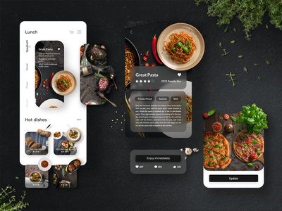 Western Food App continue to work hard colors card design illustration mobile product design interface ux ui