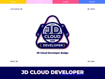 JD Cloud Developer Badge branding logo card colors art illustration ux ue ui design