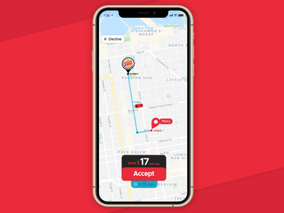 Grubhub Driver App Offer Delivery Page Product Design (UX - UI)