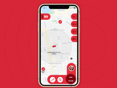 Grubhub Driver App Finding Offer Page Product Design (UX - UI)