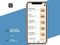 LA Casting Network App List Product Design (UX - UI)