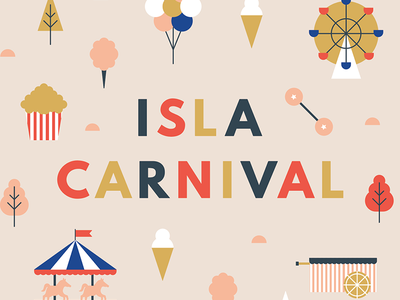 Canva Anniversary Party manila ice cream ferris wheel balloons fair illustration colorful minimal event poster party carnival