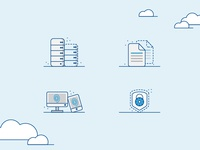 cloud virtualization icons