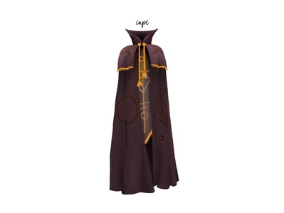 inktober day11: cape garmet conjuring witch spooky halloween texture procreate inktober cape