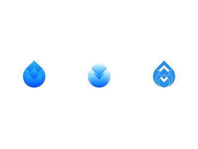 water drops exploration logo mark exploration aqua blue drops water