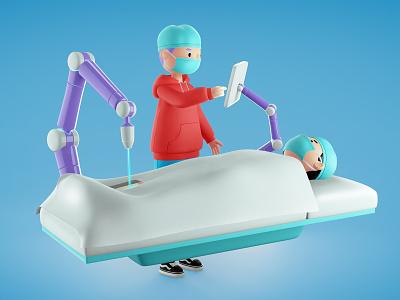 Medicine object doctor medical webdesign web design boy blue bubble illustration 3d