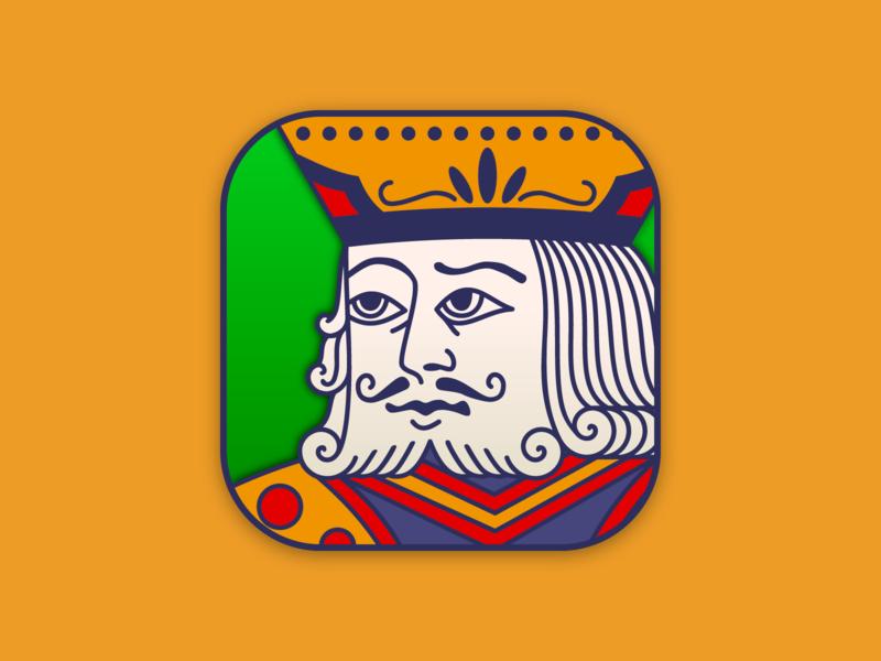 Freecell Icon app game logo design branding ui icon