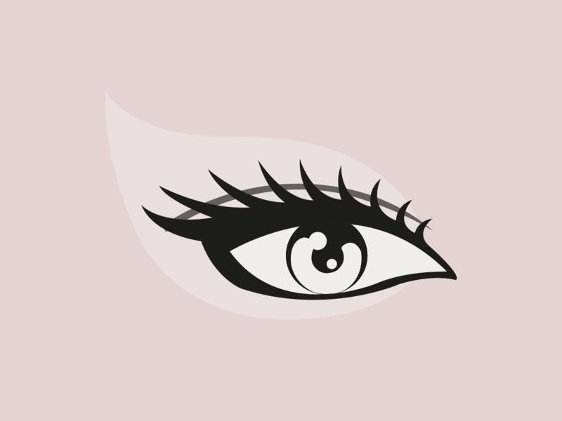 Make Up Studio Logo eye beauty make up illustration vector design branding logo