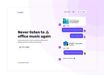 Catch Music Project chat chatbot creative slack website web design