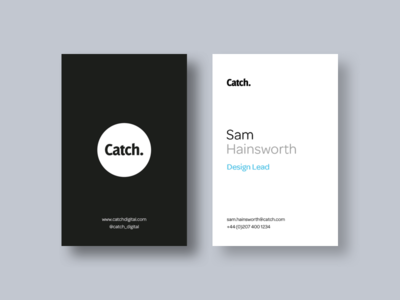 Catch Business Cards type digital catch business card print