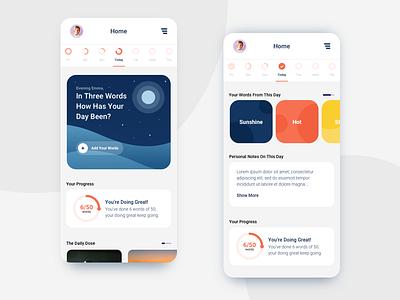 Mindful App app illustration web design branding logo