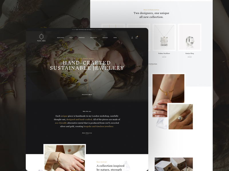 Nouare Redesign [WIP] ui wip web website web design design