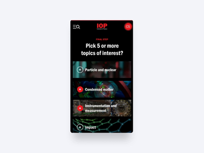 Institute of Physics - Interaction Design Take #2 gif ui animation motion web design website design branding