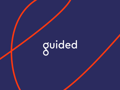 Guided [WIP] typography website design brand branding logo