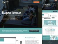PlateauTV Website Mockup