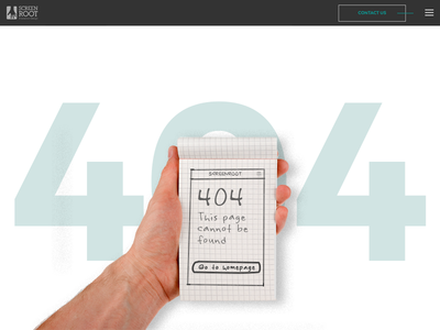 404 Page for an Interaction Design Agency design interaction design figma 2018 ui ux error page. page not found 404 page