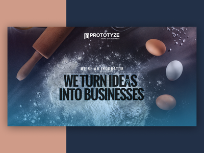Banner for a Business incubator startup inucbator business ui 2018 banner