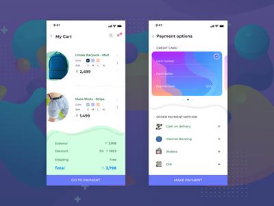 Checkout - DailyUI concept 2019 payment credit card shorts bags ui design mobile checkout process checkout checkout form dailyuichallenge dailyui