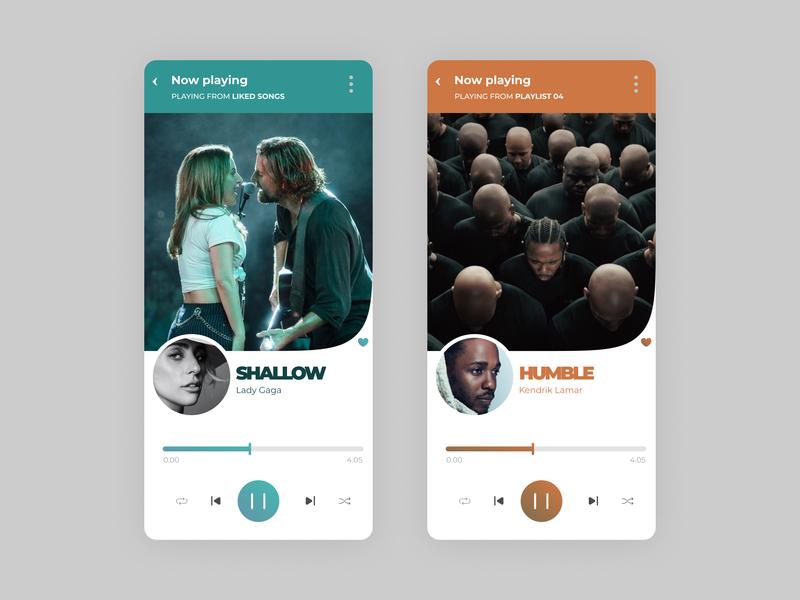 Music Player - Daily UI music music app music album dailyuichallenge dailyui music player app music player ui music player 2019 trends