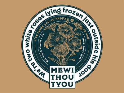 Mewithoutyou Dribble 01 lettering graphic design typography