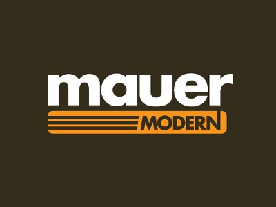 Mauer Dribble 01 progress typography logo modern logo modern