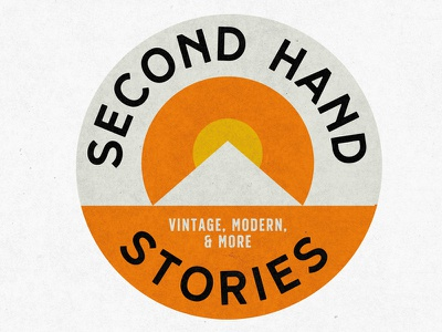 Second Hand Stories   Logo modern mid century branding logo