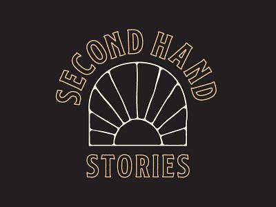 Second Hand Stories   Logo Version 2 vintage typography branding logo
