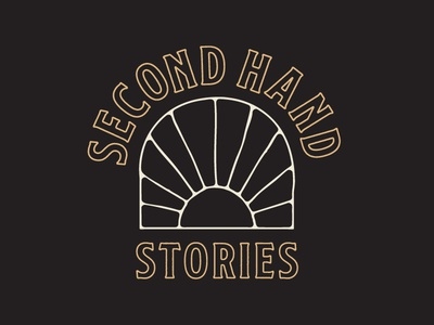 Second Hand Stories | Logo Version 2 vintage typography branding logo