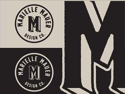 Marielle Mauer Design Co. Logo & Branding design font icon typogaphy graphic design personal brand branding logo