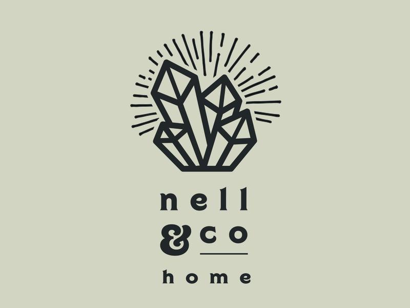 Nell & Co Home Logo typography line art logo branding logo design branding logo design concept logo logo 2d logo design