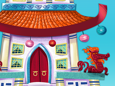 Emperor's Palace digital illustration puppet prop corel painter dragon palace chinese