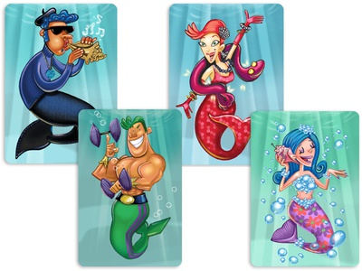 Mermaid cards for Gamewright