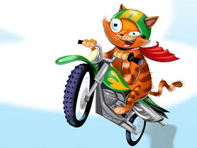 Danger Cat digital illustration photoshop painter cat highlights magazine