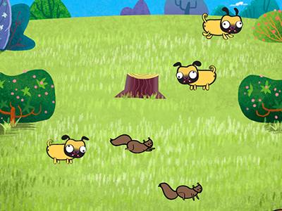 Pugs pug dog game app ipad assets iphone character animation