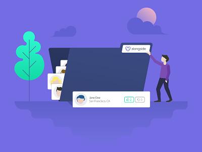 Alongside Illustration brand guidelines branding hr ats startup illustration