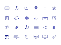 Alongside assorted icons
