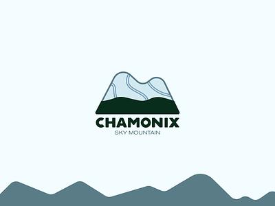 Daily Logo Challenge #8 chamonix andorra mountain sky illustration identity brand minimal icon flat branding vector logo design dailylogochallenge