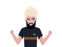 Emoji of tennis player Benoit Paire