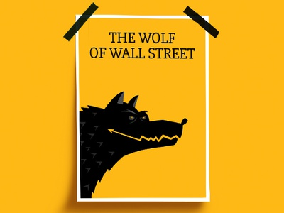 Wolf of Wall Street - Negative Space Poster debute illustration film dicaprio trading wallstreet money negativespace design poster wolfofwallstreet