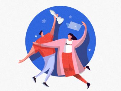 Illustration for a social post
