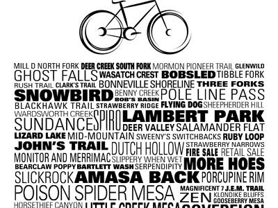 Tee for Ryan biking typography utah