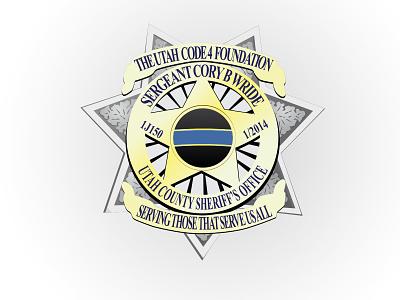 Cory B Wride serve police badge