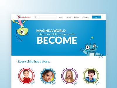 Imagine Learning ux reading marketing learning kids design children