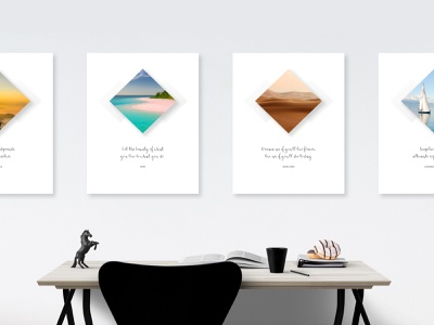 Inspirational Series travel print posters