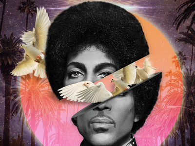 Prince Remixed 3d photoshop double exposure collage art photo collage prince rogers nelson prince