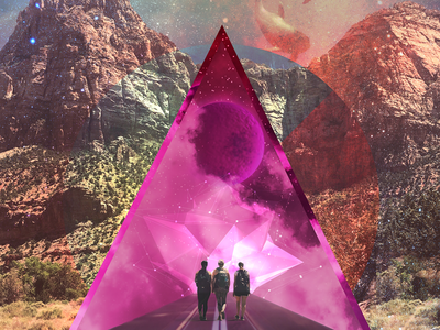 Life of Zion, Remixed 🔥 visual design low poly photography double exposure graphic design polygonal zion national park collage art surreal collage