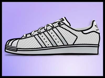 Custom hand Drawn Adidas graphic  design sharpie superstar monochromatic adidas custom