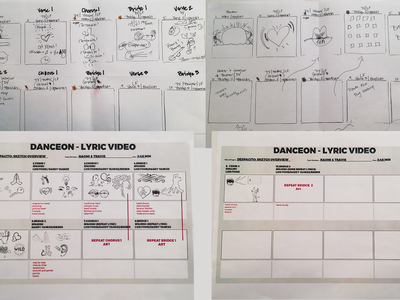 Lyric Video for DanceOn storyboarding graphic design illustrator motion graphics clip lyrics lyric video